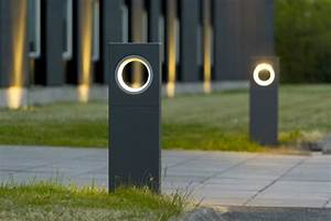 moon bollard light by platek design olle lundberg With eclairage de sol exterieur