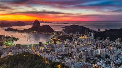 Rio Janeiro Brazil Sunset Wallpapers Laptop Desktop