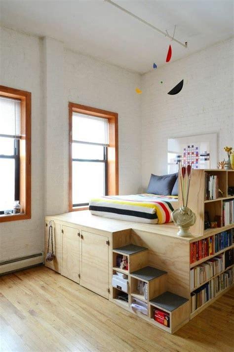 Bett Selber Bauen Mit Treppen Als Stauraum Schlafzimmer