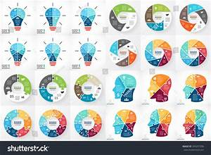 Vector Circle Infographics Template Cycle Diagram Stock