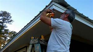 Installing outdoor flood lights under eaves bocawebcam