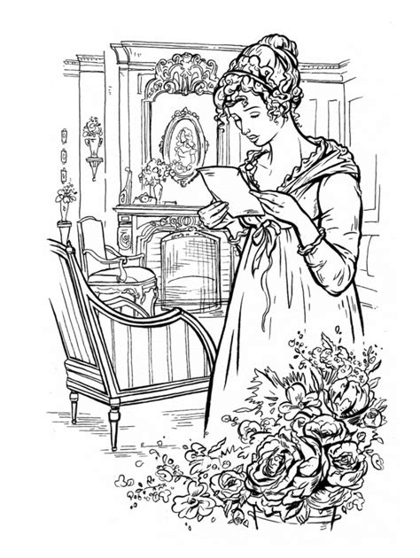 jane austen adult coloring book lets  doodle  darcy