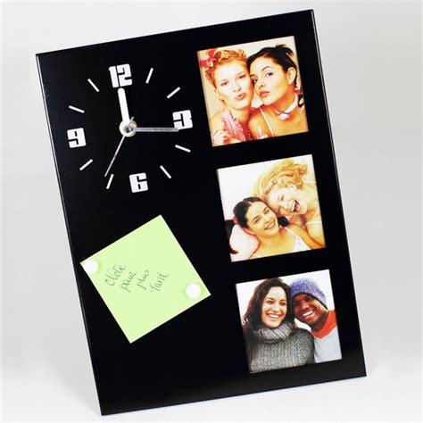 horloge de table avec cadre photos noir maison fut 233 e