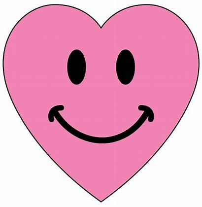 Heart Smiley Face Clipart Clip Hearts Pink