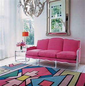 tapis multicolore selon l39amenagement interieur en 20 With tapis berbere avec canapé poltron e sofa