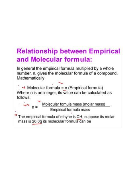 Empirical And Molecular Formula