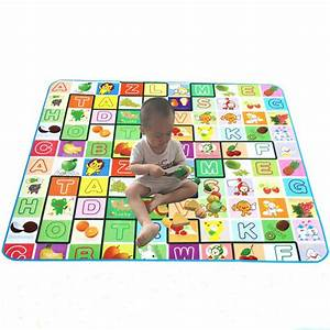 new baby play mat 3 size with fruit and alphabet With baby mat letters