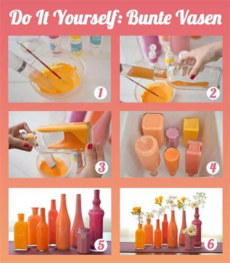 Acryllack Wohnen Sie Bunt by Glas F 228 Rben Bunte Vasen Selbermachen Diy Wohnung