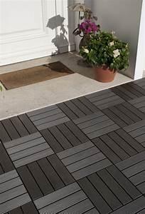 Dalle De Terrasse Composite : dalle terrasse composite clipser grise ~ Melissatoandfro.com Idées de Décoration