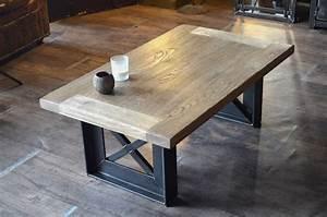Table Basse Bois Industriel : table basse bois acier style industriel sur mesure design eiffel deco appart pinterest ~ Teatrodelosmanantiales.com Idées de Décoration