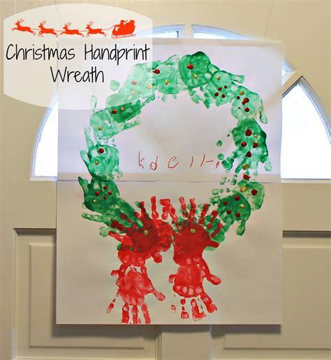 handprint wreath craft - Christmas Handprint Crafts