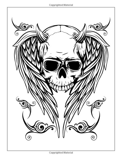 Tattoo Coloring Book: Modern Tattoo Designs, Skulls, Hearts: Elizabeth Huffman, Hue Coloring