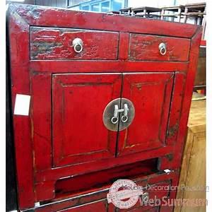 Meuble Chinois Rouge : buffet dans meuble chinois sur meuble decoration pays ~ Teatrodelosmanantiales.com Idées de Décoration