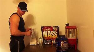 Mixing My Protein And Weight Gainer Shake After My Workout   Mutant Mass And Myo Fusion