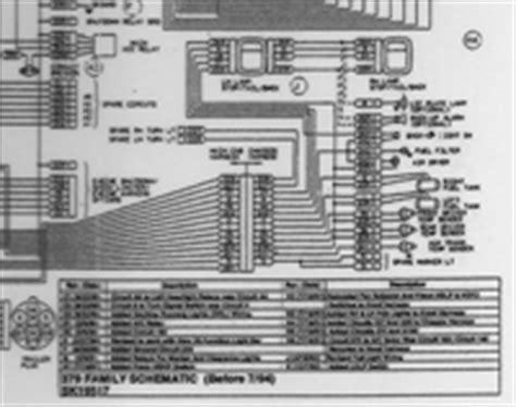 1994 Peterbilt Dash Wiring Diagram Schematic by 1970 July 1994 Peterbilt 379 Family 357 375 377 378