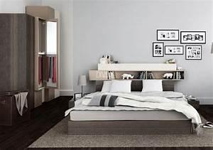 Idee De Tete De Lit : t te de lit avec rangement en 30 id es trendy pour la chambre coucher ~ Teatrodelosmanantiales.com Idées de Décoration