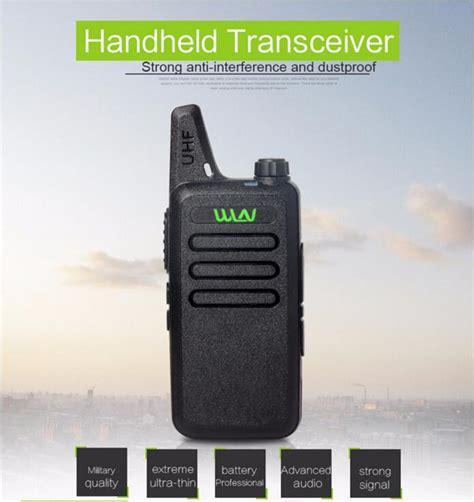 ultra thin mini walkie talkie professional range handheld cb radio transceiver uhf wln kd