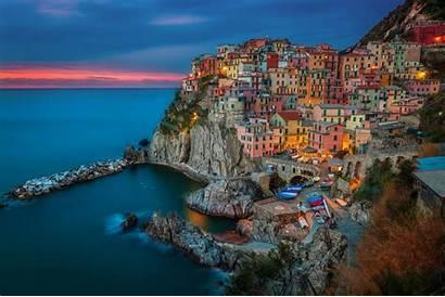 Terre Cinque Italy Manarola Landscape Wallpapers Italia