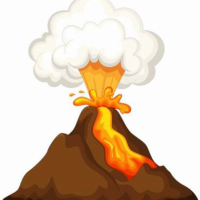 Volcano Clipart Volcanic Clip Island Drawing Cartoon