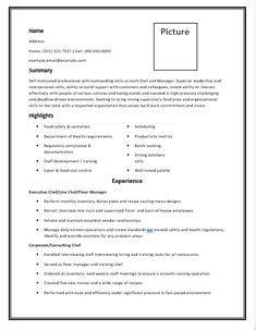 Chef Resume Sles by Resume Format 2 Resume Format Sle Resume