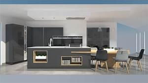 Meuble De Cuisine Gris Anthracite Maison Design Bahbe