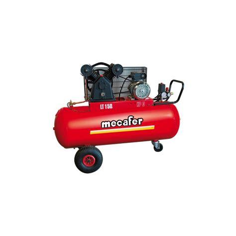 compresseur fonte avec courroie 3cv 150 litres mecafer