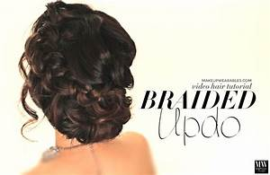 How to Voluminous Updo Braided Bun for Prom Wedding Cute Hairstyle