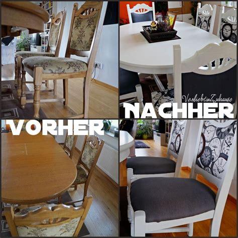Tisch Und Alte Stühle Neu Gestalten Und Verschöneren