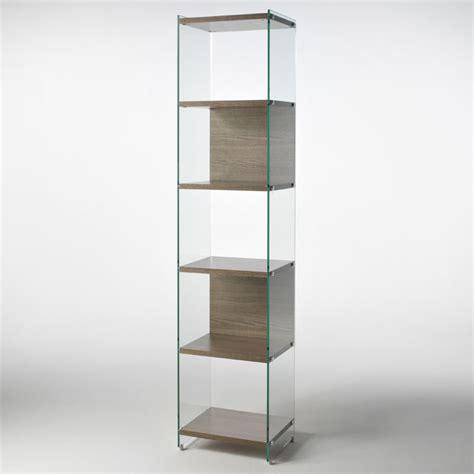Librerie In Vetro - libreria in vetro temperato byblos trasparente da 10 mm e