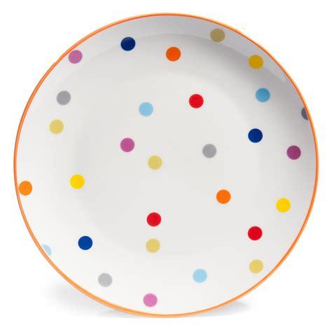 deco pour chambre ado fille assiette plate à pois en porcelaine d 26 cm confettis