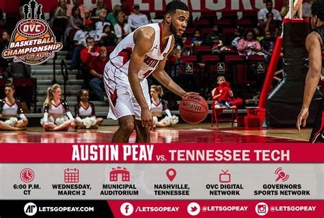 Apsu Governors Basketball Begins Ovc Tournament Against