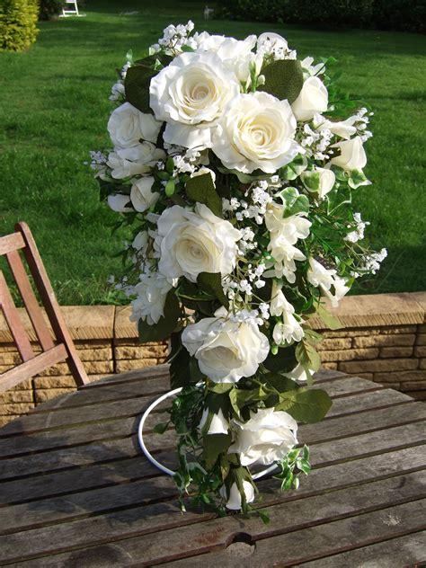 silk bouquets rose  freesia wedding bouquet wedding