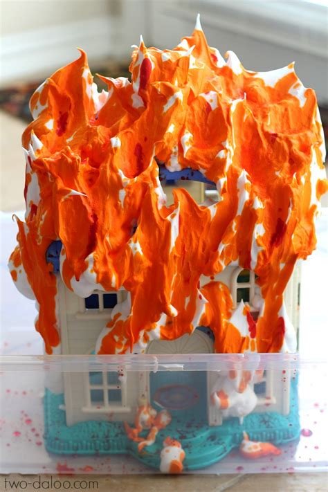 firefighter dramatic play ideas for preschoolers 867 | Firefighter Sensory Play