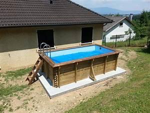 Piscine Bois Pas Cher : piscine hors sol en bois rectangulaire aspirateur piscine ~ Melissatoandfro.com Idées de Décoration