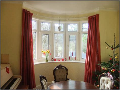 curved bow window curtain rod curtains home design