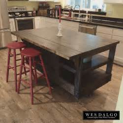 Drop Leaf Kitchen Islands Distressed Wood Modern Rustic Kitchen Island Cart With Walnut Stained Top