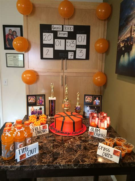 basketball party decorations aarons basketball party
