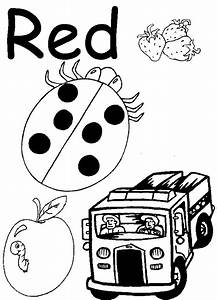 Free coloring pages of red color worksheets