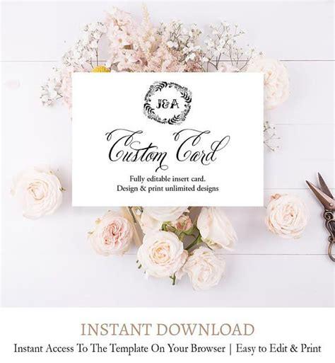 elegant editable wedding card classic custom wedding card