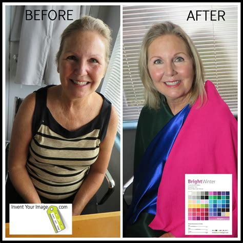 color before and after pictures before and after personal color analysis invent your image