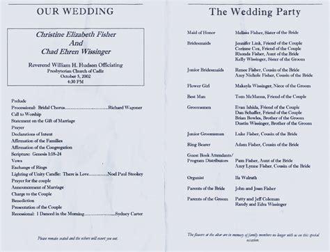 church wedding program church program template cyberuse