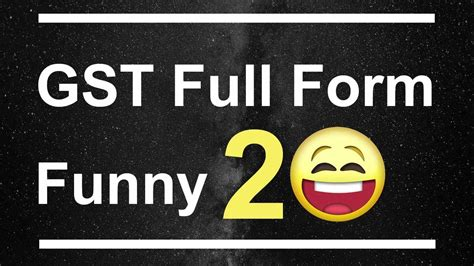 gst full forms funny 20 youtube