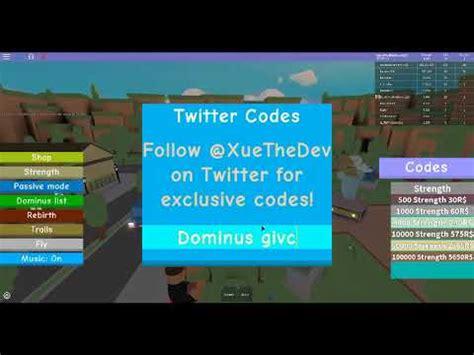 roblox dominus lifting simulator codes list