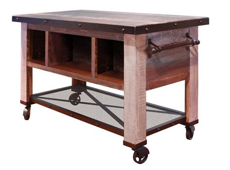 kitchen island casters international furniture direct 900 antique ifd967island mc 1860