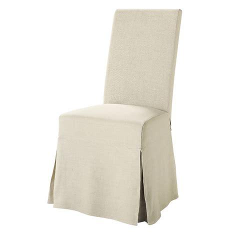 housse de chaise maison du monde housse longue de chaise en margaux maisons du monde