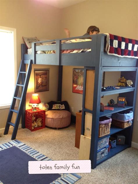 diy loft bed plans ana white  teds woodworking