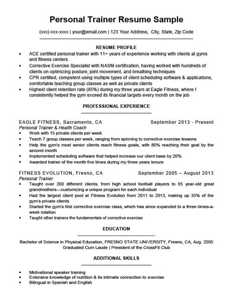 What Do You Put On A Resume by Personal Trainer Resume Sle Writing Tips Resume
