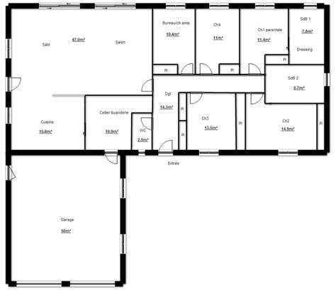 plan maison en l plain pied 3 chambres maison en l plans maisons