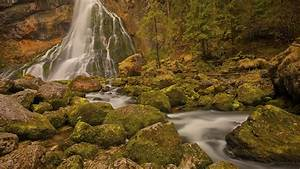 Waterfalls, On, Rock, Stone, Austria, Hd, Nature, Wallpapers