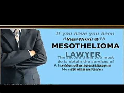 mesothelioma asbestos lawyer legal  attorney youtube
